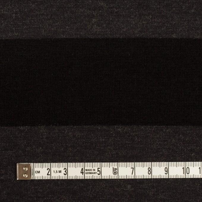 ウール&ナイロン×ボーダー(グレー&ブラック)×Wニット イメージ4