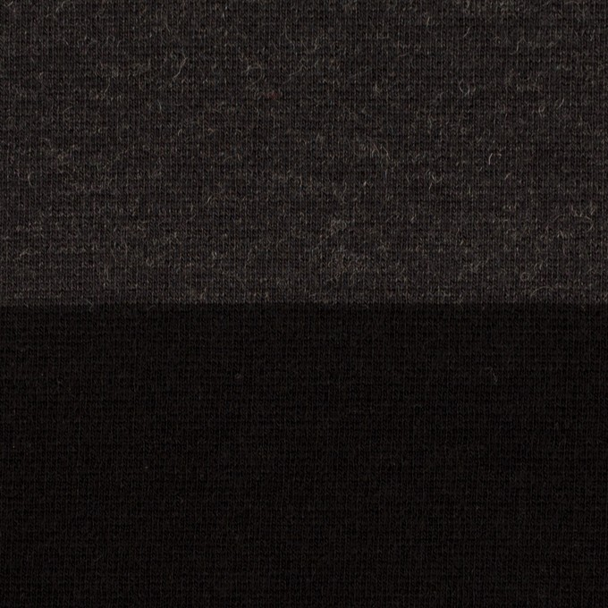 ウール&ナイロン×ボーダー(グレー&ブラック)×Wニット イメージ1
