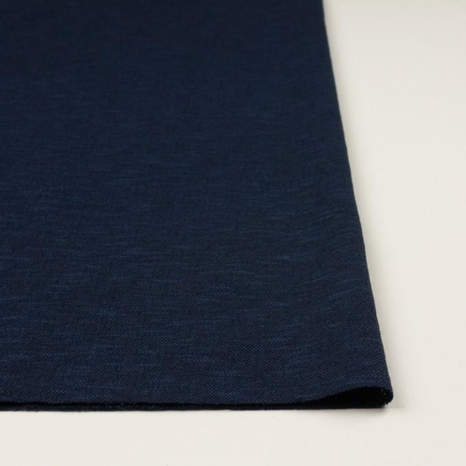 ウール&ポリエステル×ミックス(ネイビー)×ジャガードニット_全2色_イタリア製 イメージ3