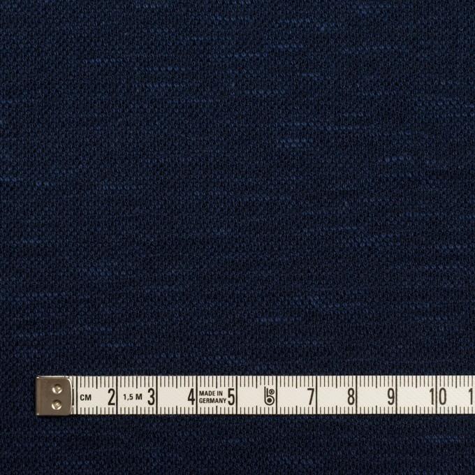 ウール&ポリエステル×ミックス(ネイビー)×ジャガードニット_全2色_イタリア製 イメージ4