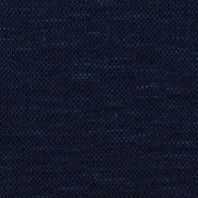 ウール&ポリエステル×ミックス(ネイビー)×ジャガードニット_全2色_イタリア製 イメージ1