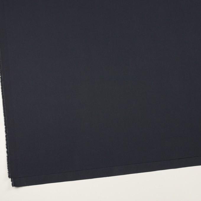 コットン&ポリウレタン×無地(ダークネイビー)×二重織ストレッチ イメージ2