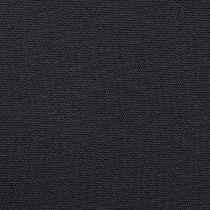 コットン&ポリウレタン×無地(ダークネイビー)×二重織ストレッチ イメージ1