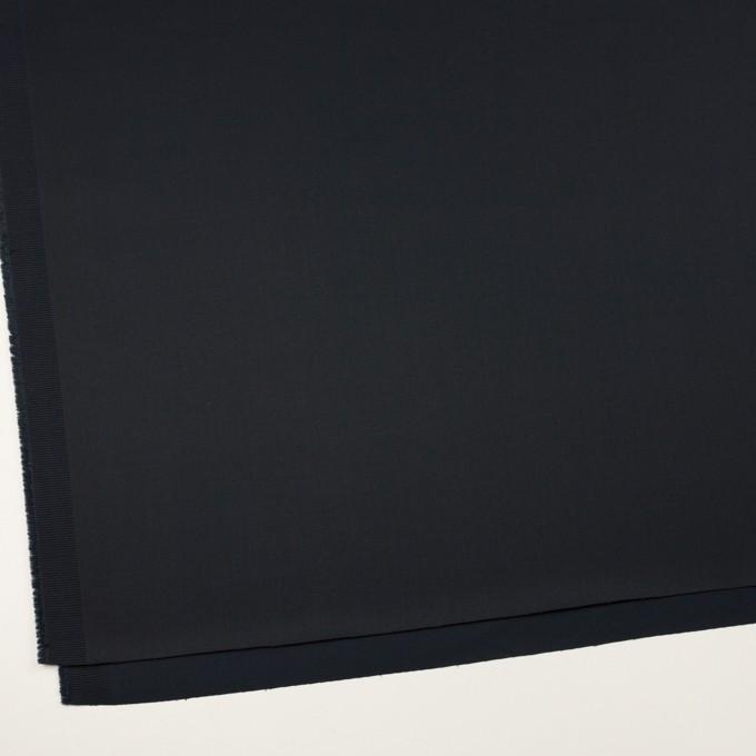 コットン&ポリウレタン×無地(ダークネイビー)×サテンストレッチ イメージ2