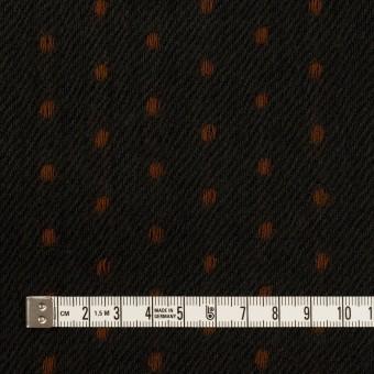 ウール×ストライプ(ダークカーキ&ブラウン)×ガーゼドビー サムネイル4