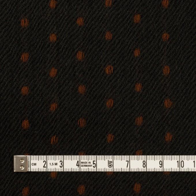 ウール×ストライプ(ダークカーキ&ブラウン)×ガーゼドビー イメージ4
