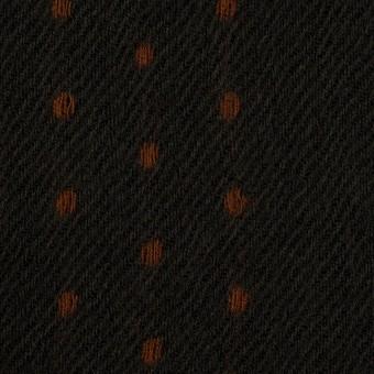 ウール×ストライプ(ダークカーキ&ブラウン)×ガーゼドビー