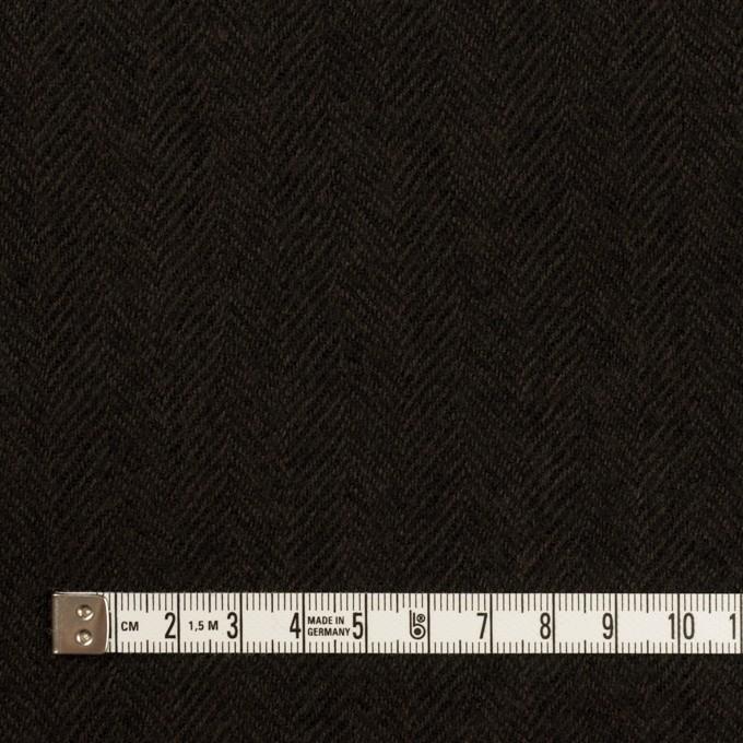 ウール×無地(ダークブラウン)×ガーゼ イメージ4