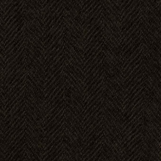 ウール×無地(ダークブラウン)×ガーゼ イメージ1