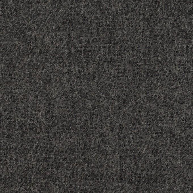 ウール×無地(チャコールグレー)×ガーゼ イメージ1