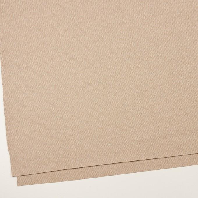 ウール×ミックス(ライトベージュ)×かわり織 イメージ2