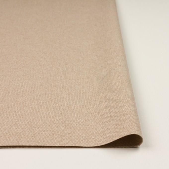 ウール×ミックス(ライトベージュ)×かわり織 イメージ3
