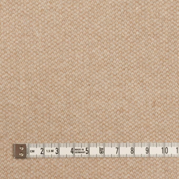 ウール×ミックス(ライトベージュ)×かわり織 イメージ4
