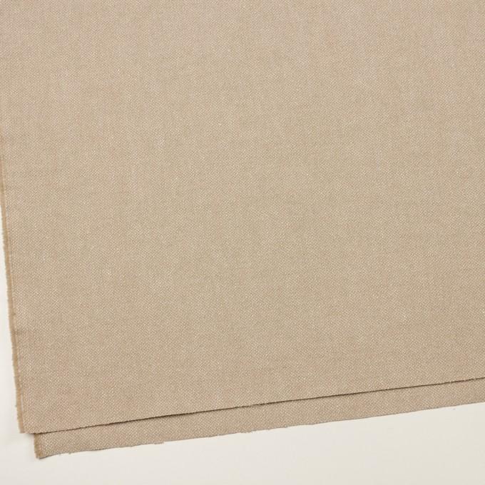 ウール&リネン×ミックス(グレイッシュベージュ)×かわり織 イメージ2
