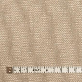 ウール&リネン×ミックス(グレイッシュベージュ)×かわり織 サムネイル4