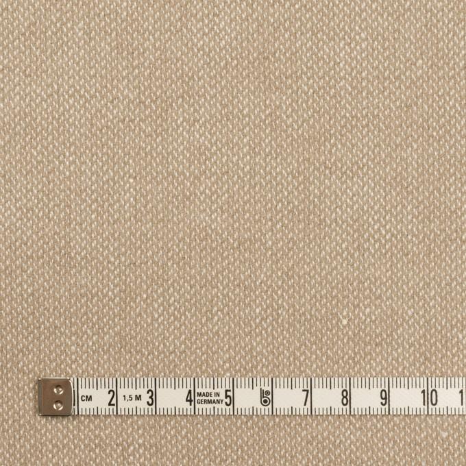ウール&リネン×ミックス(グレイッシュベージュ)×かわり織 イメージ4