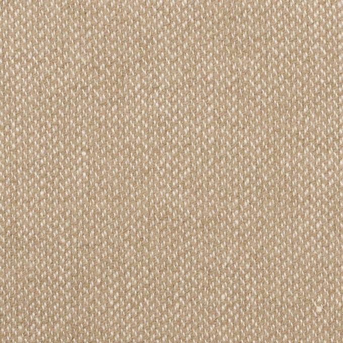 ウール&リネン×ミックス(グレイッシュベージュ)×かわり織 イメージ1