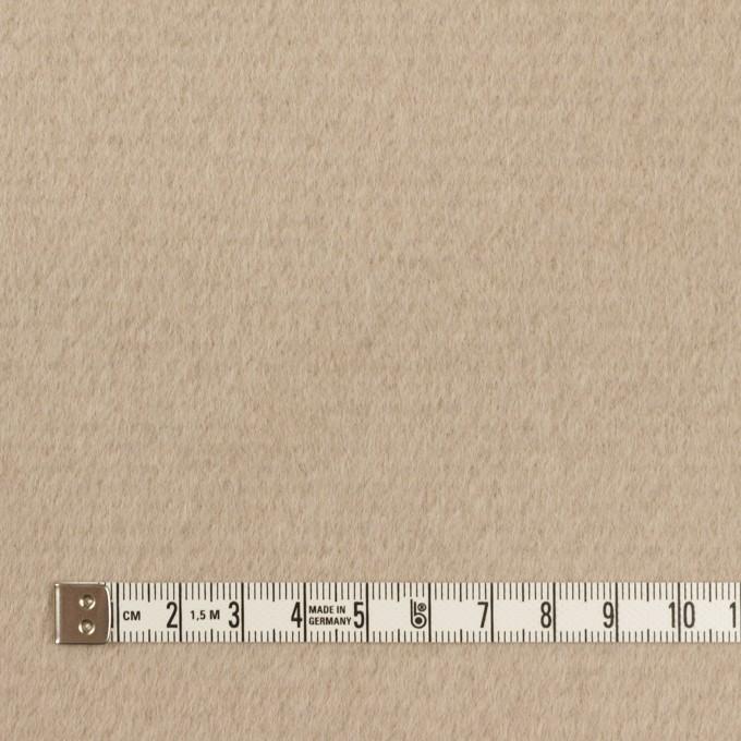 ウール&アンゴラ×無地(グレイッシュベージュ)×ビーバー イメージ4