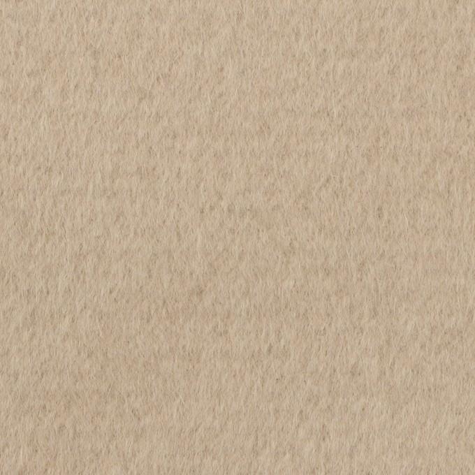 ウール&アンゴラ×無地(グレイッシュベージュ)×ビーバー イメージ1