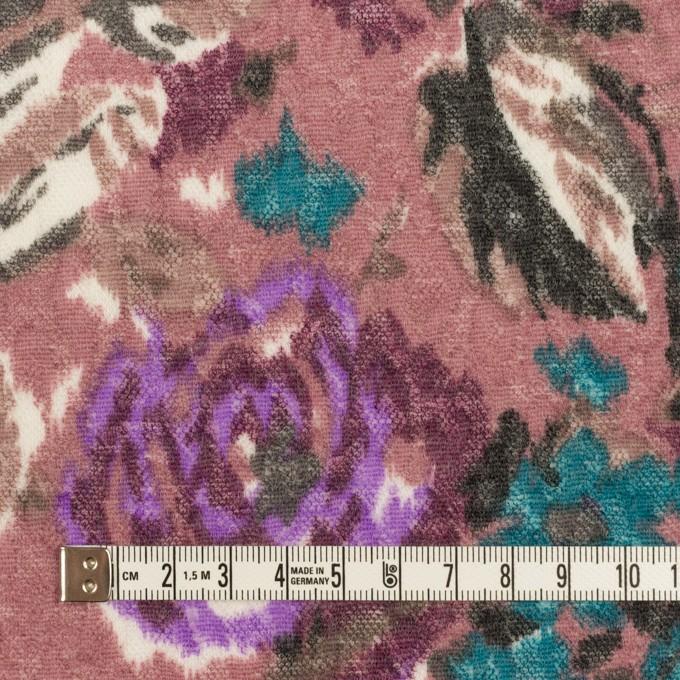 ポリエステル&ウール×フラワー(モーブ)×ジャガードニット_全2色 イメージ4