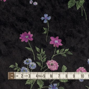 ポリエステル×フラワー(モーブ&ブラック)×ベロアニット_全3色 サムネイル4