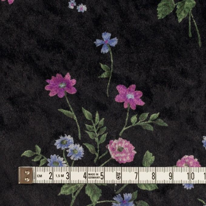 ポリエステル×フラワー(モーブ&ブラック)×ベロアニット_全3色 イメージ4