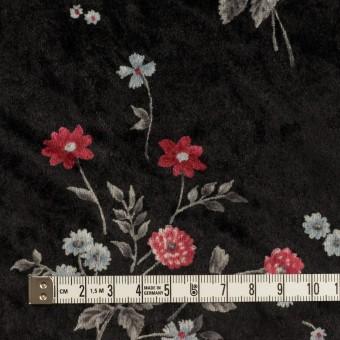ポリエステル×フラワー(レッド&ブラック)×ベロアニット_全3色 サムネイル4