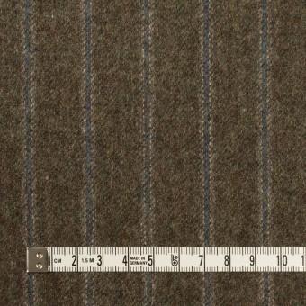 ウール×ストライプ(アッシュブラウン&ブルー)×フラノ(フランネル)_全2色 サムネイル4