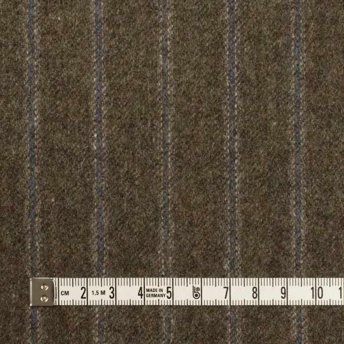 ウール×ストライプ(アッシュブラウン&ブルー)×フラノ(フランネル)_全2色 イメージ4