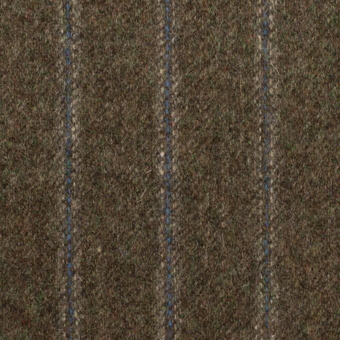 ウール×ストライプ(アッシュブラウン&ブルー)×フラノ(フランネル)_全2色 イメージ1