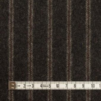 ウール×ストライプ(チャコール&レンガ)×フラノ(フランネル)_全2色 サムネイル4