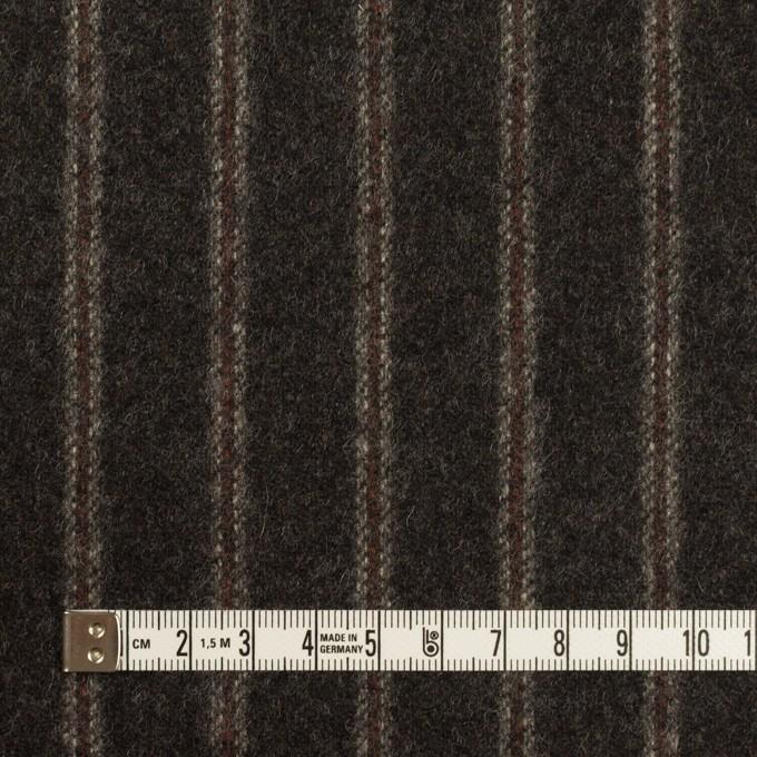 ウール×ストライプ(チャコール&レンガ)×フラノ(フランネル)_全2色 イメージ4