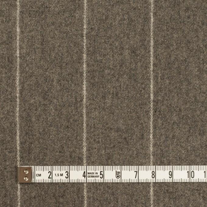 ウール×ストライプ(アッシュブラウン)×フラノ(フランネル) イメージ4