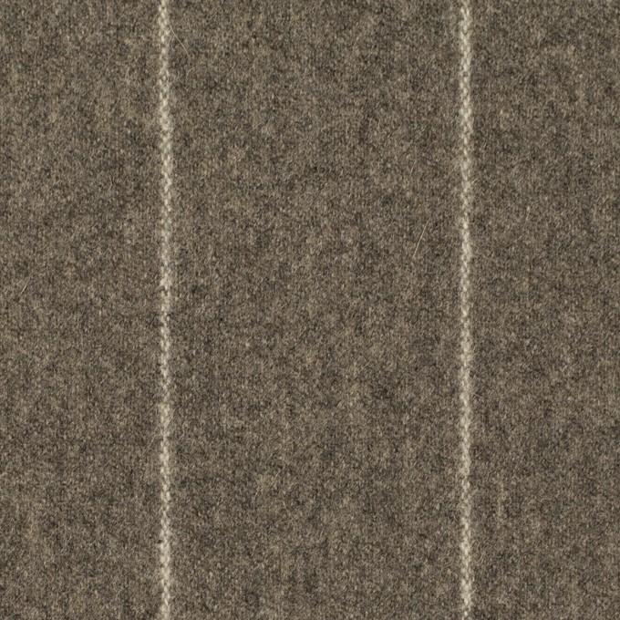 ウール×ストライプ(アッシュブラウン)×フラノ(フランネル) イメージ1