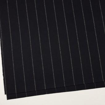 ウール×ストライプ(ブラック)×フラノ(フランネル) サムネイル2
