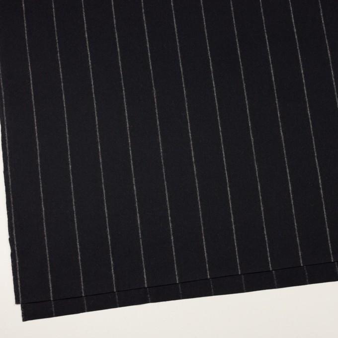 ウール×ストライプ(ブラック)×フラノ(フランネル) イメージ2