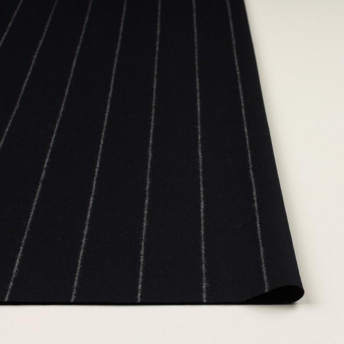 ウール×ストライプ(ブラック)×フラノ(フランネル) イメージ3