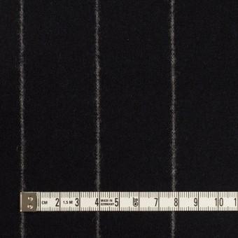 ウール×ストライプ(ブラック)×フラノ(フランネル) サムネイル4