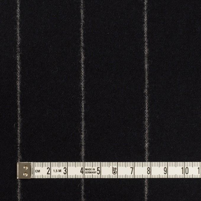 ウール×ストライプ(ブラック)×フラノ(フランネル) イメージ4