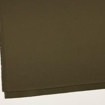 コットン&リヨセル×無地(ダークカーキ)×二重織(裏面起毛)_全2色 サムネイル2