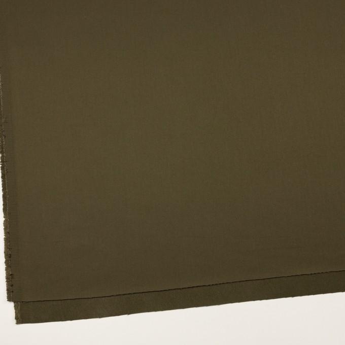 コットン&リヨセル×無地(ダークカーキ)×二重織(裏面起毛)_全2色 イメージ2