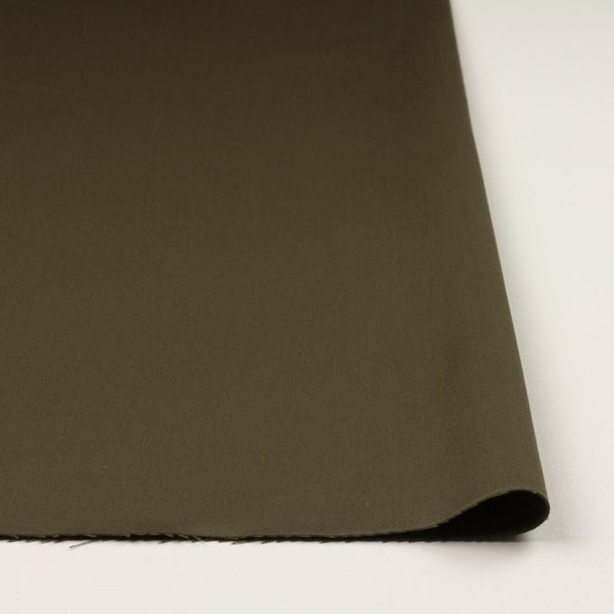 コットン&リヨセル×無地(ダークカーキ)×二重織(裏面起毛)_全2色 イメージ3