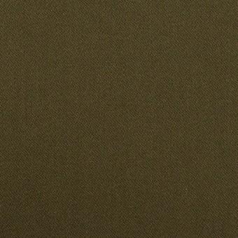 コットン&リヨセル×無地(ダークカーキ)×二重織(裏面起毛)_全2色