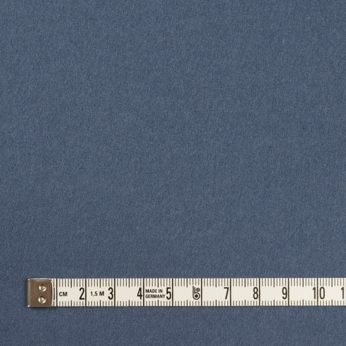ウール×無地(アッシュブルー)×Wフェイス・フラノ イメージ4