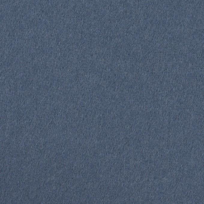 ウール×無地(アッシュブルー)×Wフェイス・フラノ イメージ1