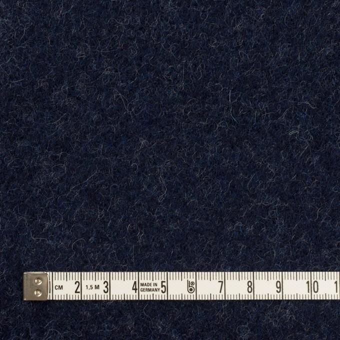 ウール×無地(ネイビー)×ソフトメルトン イメージ4