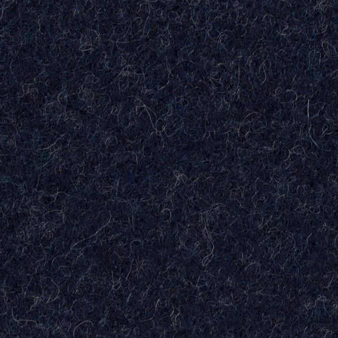 ウール×無地(ネイビー)×ソフトメルトン イメージ1
