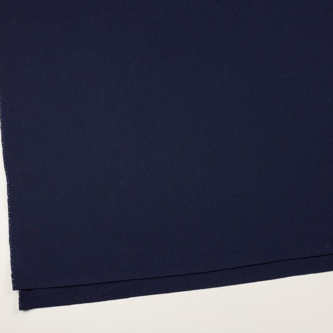 ウール×無地(ネイビー)×フラノ(フランネル) イメージ2