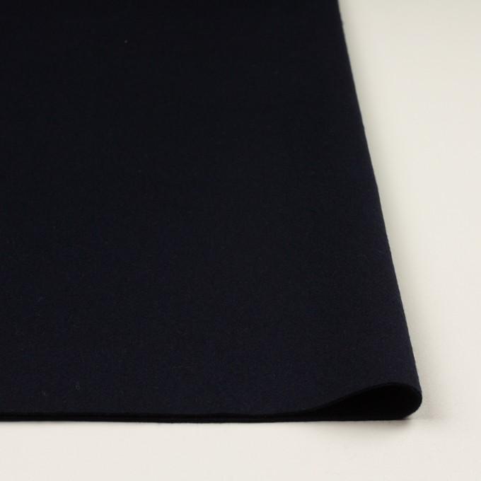 ウール×無地(ダークネイビー)×Wフェイス・フラノ イメージ3