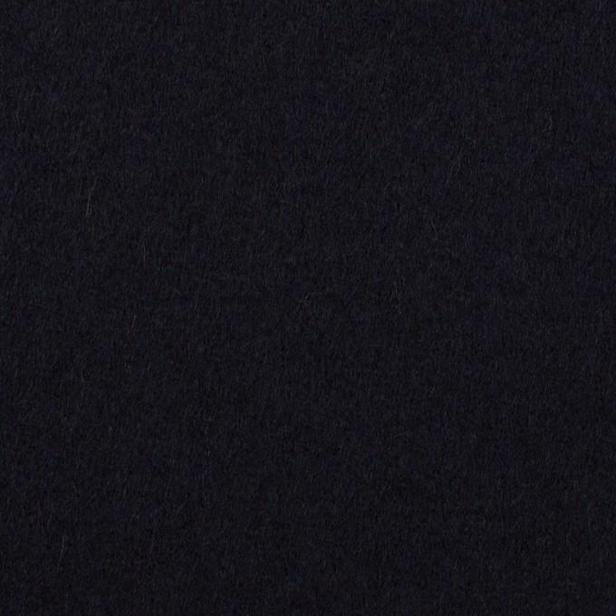 ウール×無地(ダークネイビー)×Wフェイス・フラノ イメージ1